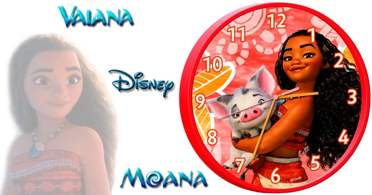 Childrens Wall Clock Officially Licensed,Brand Vaiana Moana Wall Clock